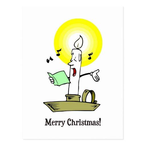 frohe weihnachten zeichnen der kerze ein lied postkarte. Black Bedroom Furniture Sets. Home Design Ideas