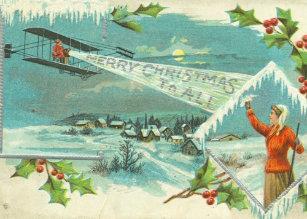 Frohe Weihnachten Flugzeug.Antikes Flugzeug Karten Zazzle De