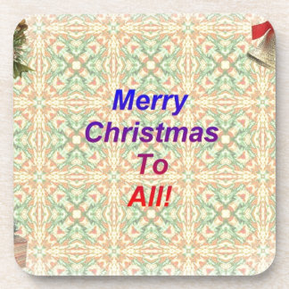 Frohe Weihnachten zu allen Cocktail Untersetzer