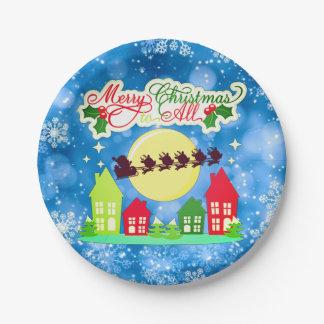 Frohe Weihnachten zu allen Pappteller
