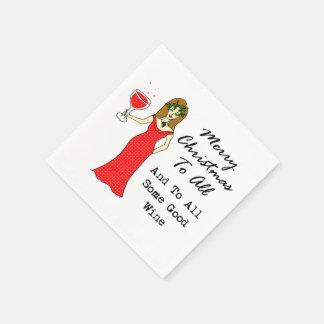 Frohe Weihnachten zu allen und zu etwas ganzem Papierservietten