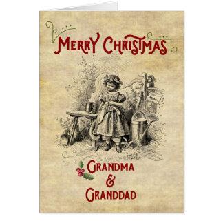 Frohe Weihnachten zu beiden Großeltern Karte