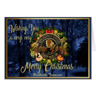 Frohe Weihnachten zu einem New- Yorkland-Musikfan Karte