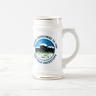 Frohe Weihnachten zu Ihnen und zu Ihren Vorfahren Bierglas