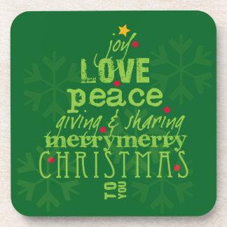 Frohe Weihnachten zu Ihnen Untersetzer im Grün