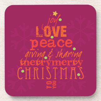 Frohe Weihnachten zu Ihnen Untersetzer in den Rott