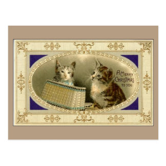Frohe Weihnachten zu Ihnen Vintage Postkarte
