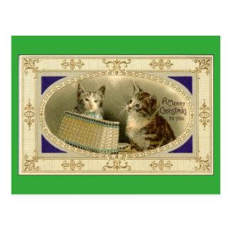 Frohe Weihnachten zu Ihnen Vintages Postkarte