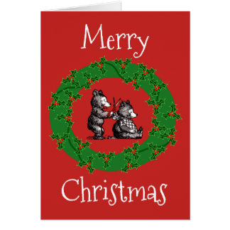 Frohe Weihnachten zum Friseur Karte