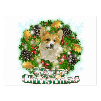Frohe WeihnachtenCorgi Postkarte