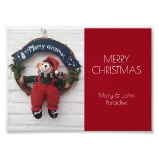 Frohe WeihnachtenWreathniedliche Kunstphotos