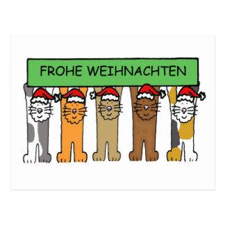 Frohe Weinhachten, Weihnachtskatzen Postkarte
