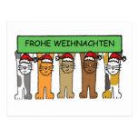 Frohe Weinhachten, Weihnachtskatzen Postkarten