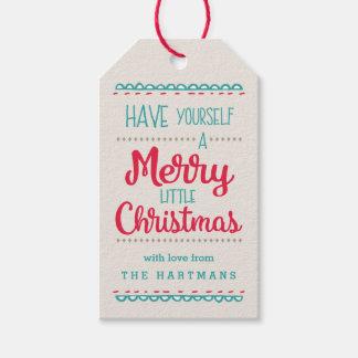 Frohe wenig Weihnacht-personalisierte Geschenkanhänger