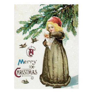 """""""Frohen Weihnacht-"""" Mädchen Postkarten"""