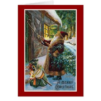"""""""Frohen Weihnacht-"""" Vintages Weihnachten Karte"""