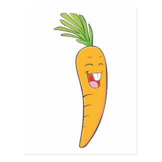Frohes asiatisches Karotten-Gemüse Postkarte
