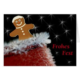 Frohes Fest Grußkarte