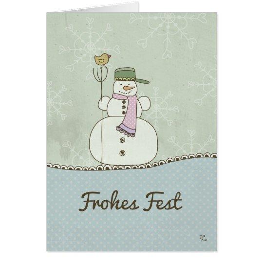 Frohes Fest Karte