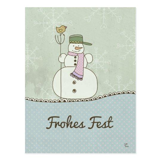 Frohes Fest Postkarte
