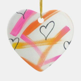 Frohes Herz Keramik Herz-Ornament
