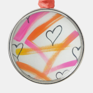 Frohes Herz Silbernes Ornament