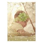 Frohes Licht-Goldglückliche Feiertags-Foto-Karte Personalisierte Einladungen