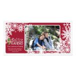 Frohes Weihnachten - 1 Foto Personalisierte Photo Karte
