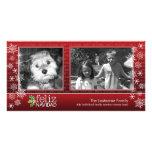 Frohes Weihnachten - collage von 2 Fotos Foto Karten Vorlage