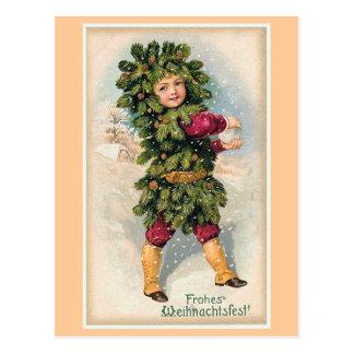 """""""Frohes Weihnachtsfest"""" Vintages Weihnachten Postkarte"""