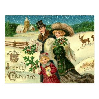 Frohes WeihnachtsVintage Weihnachtspostkarte Postkarte