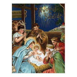 """""""Frohes Yuletide"""" Vintages Weihnachten Postkarte"""