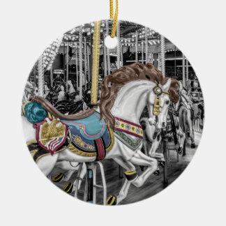Fröhlich gehen Runden-Karussell Rundes Keramik Ornament