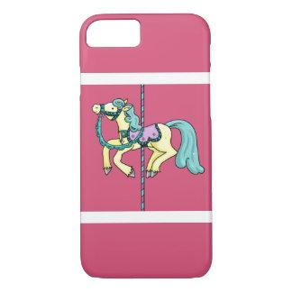 Fröhlich gehen Rundenkarussell Pony iPhone 8/7 Hülle