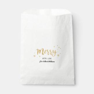 Fröhlich (Gold) Geschenktütchen