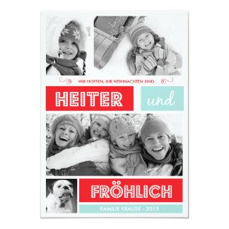 Fröhlich und Frohen Weihnachten Individuelle Einladungskarten