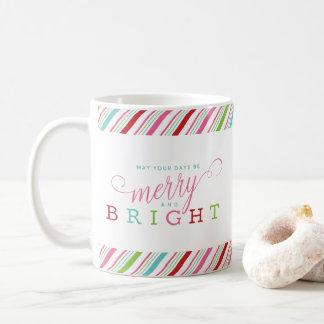 Fröhlich und hell mit Süßigkeits-Streifen Kaffeetasse