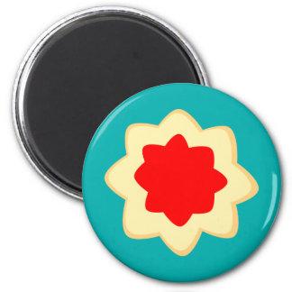 Fröhlich und süß runder magnet 5,1 cm