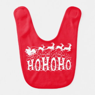 Fröhlich Weihnachten-Ho Ho Ho Babylätzchen