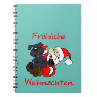 Fröhliche Bouvier Weihnachten Notizblock