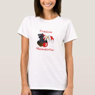 Fröhliche Bouvier Weihnachten T-Shirt