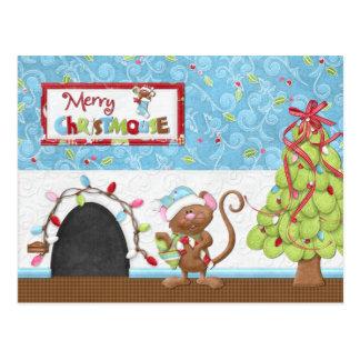 Fröhliche Christmouse Weihnachtskarte Postkarte
