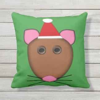 Fröhliche Chrstmas Mäusekissen im Freien Kissen Für Draußen