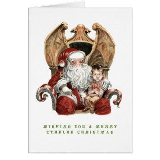 Fröhliche Cthulhu Weihnachtskarte Karte