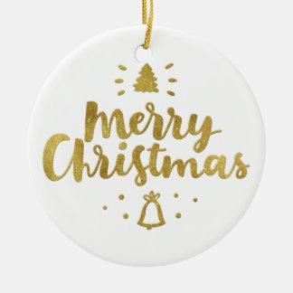 Fröhliche entzückende Geschenke des Weihnachten| Rundes Keramik Ornament