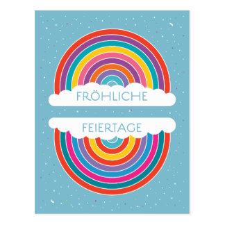 Fröhliche Feriertage Postkarte