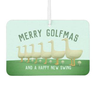 Fröhliche Golfmas glückliche 6 Gänse A, die Lufterfrischer