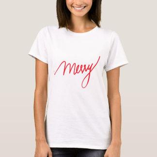 Fröhliche | Handmit buchstaben gekennzeichnetes T-Shirt