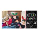 Fröhliche helle Feiertags-modernes Foto-Weihnachte Bildkarten