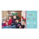 Fröhliche helle Feiertags-modernes Foto-Weihnachte Fotogrußkarten